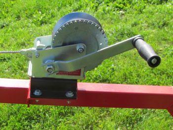 Verricello manuale per rimorchio legna ATV