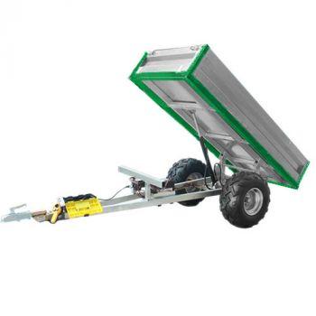 Rimorchio ribaltabile idraulico (capacità di carico 600 kg)
