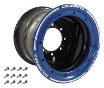 GS: 8X8 4/110/115 3+5 B BEAD-LOCK NERO - CERCHIO BLU