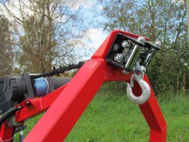 Verricello elettrico per rimorchio legna ATV