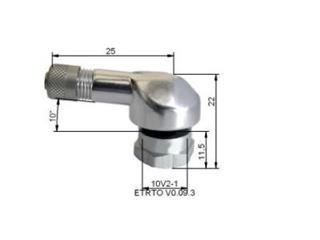 Valvole gomma in alluminio Ø8,5mm Argento