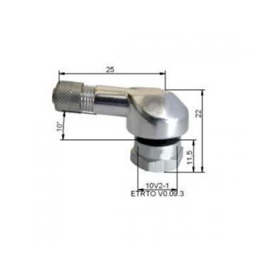 Valvole gomma in alluminio  Ø11,5mm Argento