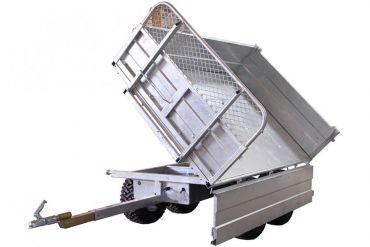 Rimorchio ribaltabile - 1500 kg di capacità con un'opzione di inclinazione a 3 vie
