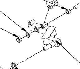 Wheel axle of flail mower