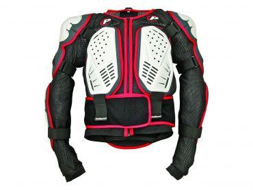 Polisport bianco/nero/rosso Body armor integrale