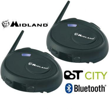 Midland BT CITY TWIN INTERCOM KIT BLUETOOTH