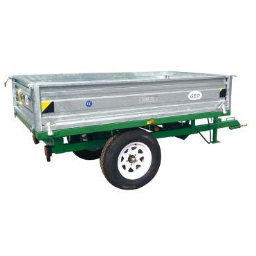 Rimorchio autoribaltabile idraulico - capacità 1500kg