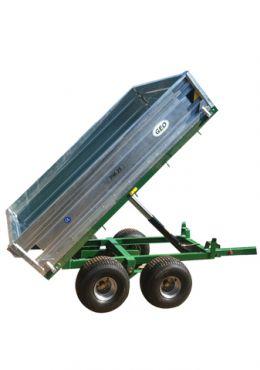 Rimorchio autoribaltabile idraulico - capacità 2500kg