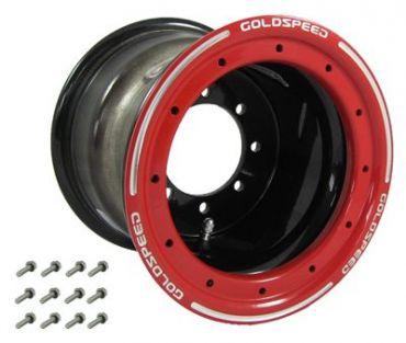GS: 9X6 4/110/115 2B+4N 2X BL 2X BEAD-LOCK NERO-CERCHI ROSSI