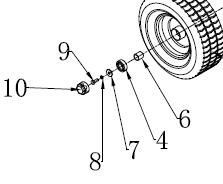 Wheel bearing - ATV 120 flail mower